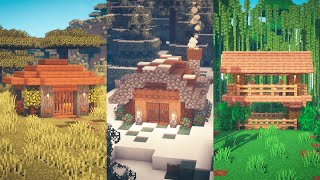 Minecraft | 3 Starter Houses for 3 Different Biomes #1