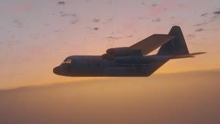 GTA 5 - C-130 Plane Jump Humane Labs Tactical Assault - SWAT Team Six - Special Ops