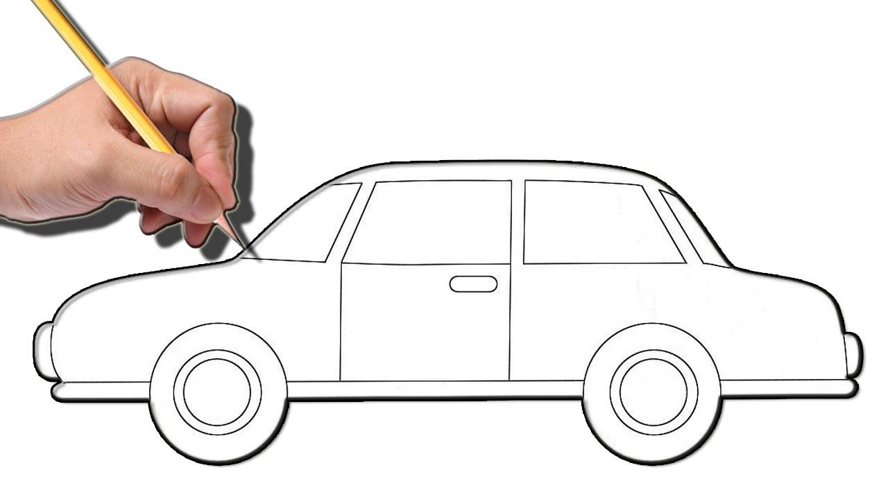 تعلم كيفية رسم سيارة How To Draw A Car Step By Step Youtube