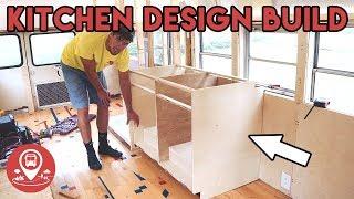 #15 | School Bus Conversion | KITCHEN DESIGN AND BUILD