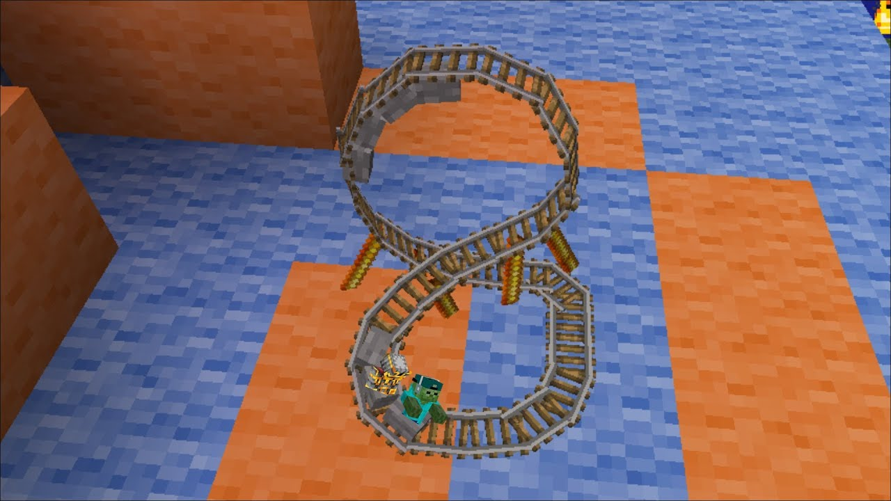 Minecraft RIDING ON THE SMALLEST ROLLERCOASTER IN MINECRAFT WITH MY FRIENDLY ZOMBIE !! Minecraft