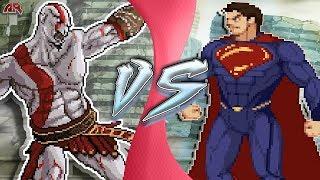 KRATOS vs SUPERMAN (God of War vs Justice League Animation) | CARTOON FIGHT CLUB