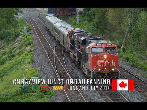 4K - Summer Railfanning at CN Bayview Junction - Endless CN, VIA, Amtrak & GO Train Action!