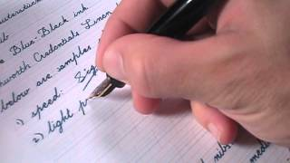 Montblanc 146, medium nib, writing sample