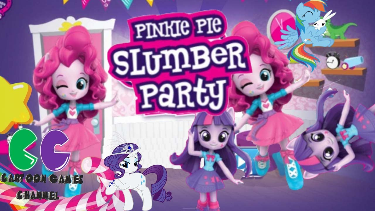 Pinkie Pie Fiesta de pijamas: Juego de Pony Y Equestria girls - YouTube