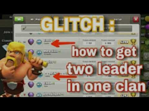 How to get two leader in one clan || with proof ||