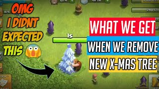 WHAT HAPPENS WHEN YOU REMOVE X-MAS TREE 2017 !! CLASH OF CLANS DECEMBER 2017 UPDATE
