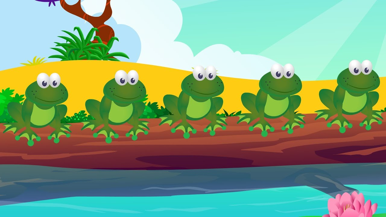 song 5 frogs on a log clip