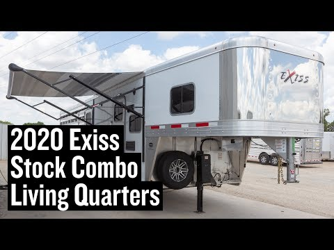 2020 Exiss Stock Combo Living Quarters Trailer - Stock #3652