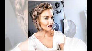 Warkocz odwrócony| Cienkie, krótkie włosy
