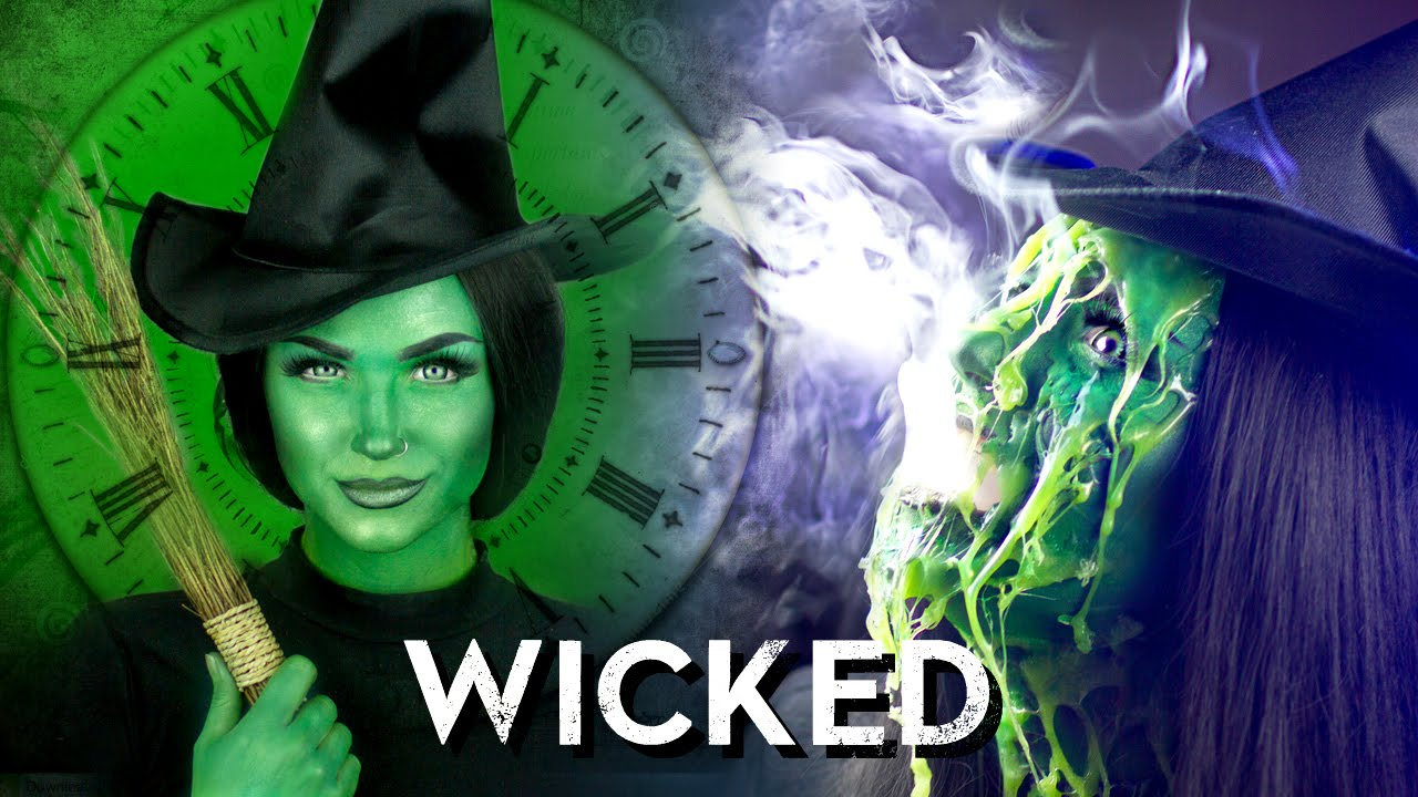Melted Wicked Witch Of The West Makeup Tutorial Youtube