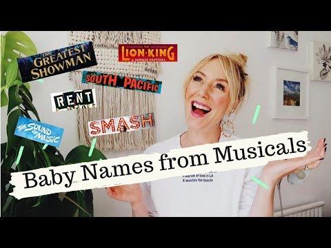 Musicals Inspired Baby Names | SJ STRUM