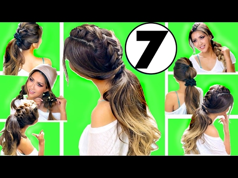 TOP 7 EASY EVERYDAY HAIRSTYLES of 2017