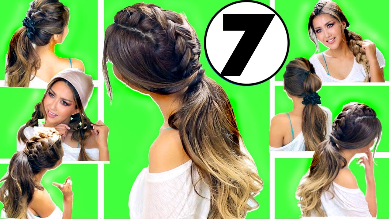 ★ top 7 easy everyday hairstyles of 2017 👍🏽 | hairstyles for medium long hair