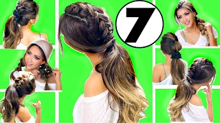 ★ TOP 7 EASY EVERYDAY HAIRSTYLES of 2017 👍🏽   Hairstyles for Medium Long Hair