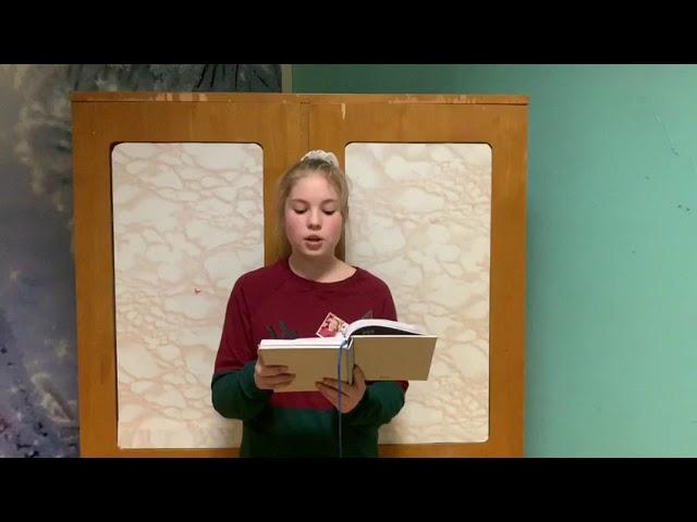 Драгунцова Карина читает произведение «Октябрьский рассвет» (Бунин Иван Алексеевич)