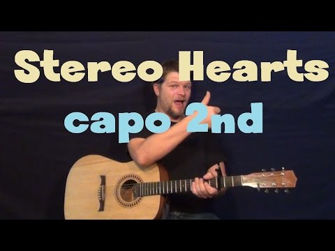 Stereo Hearts (Gym Class Heroes) Easy Guitar Lesson How to Play Tutorial