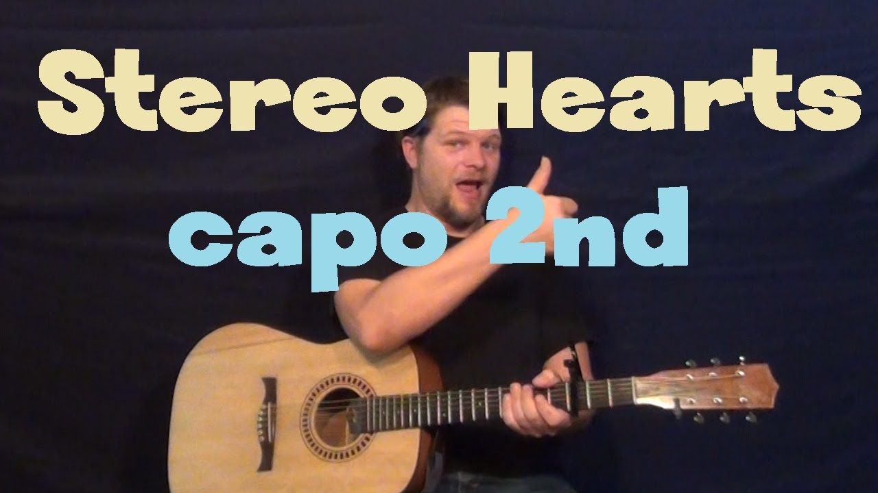 Stereo Hearts Gym Class Heroes Easy Guitar Lesson How To Play