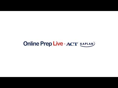 ACT Kaplan Online Prep Live Sample Class