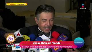 ¡Jorge Ortiz de Pinedo explota contra Sergio Mayer!   Sale el Sol