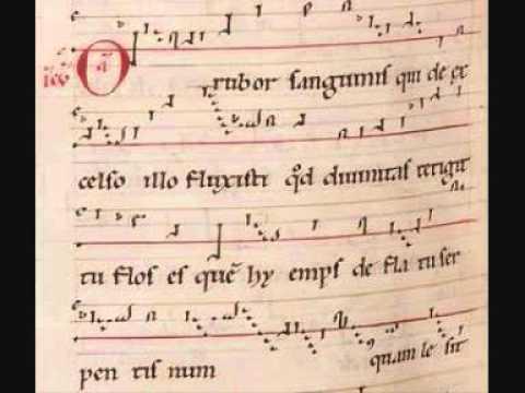 Hildegard von Bingen, O rubor sanguinis (with score)