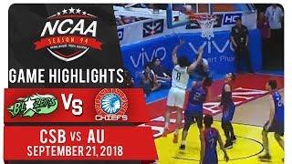 NCAA 94 MB: CSB vs. AU | Game Highlights | September 21, 2018