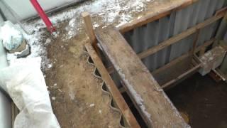 Конструкция ямы для кроликов.