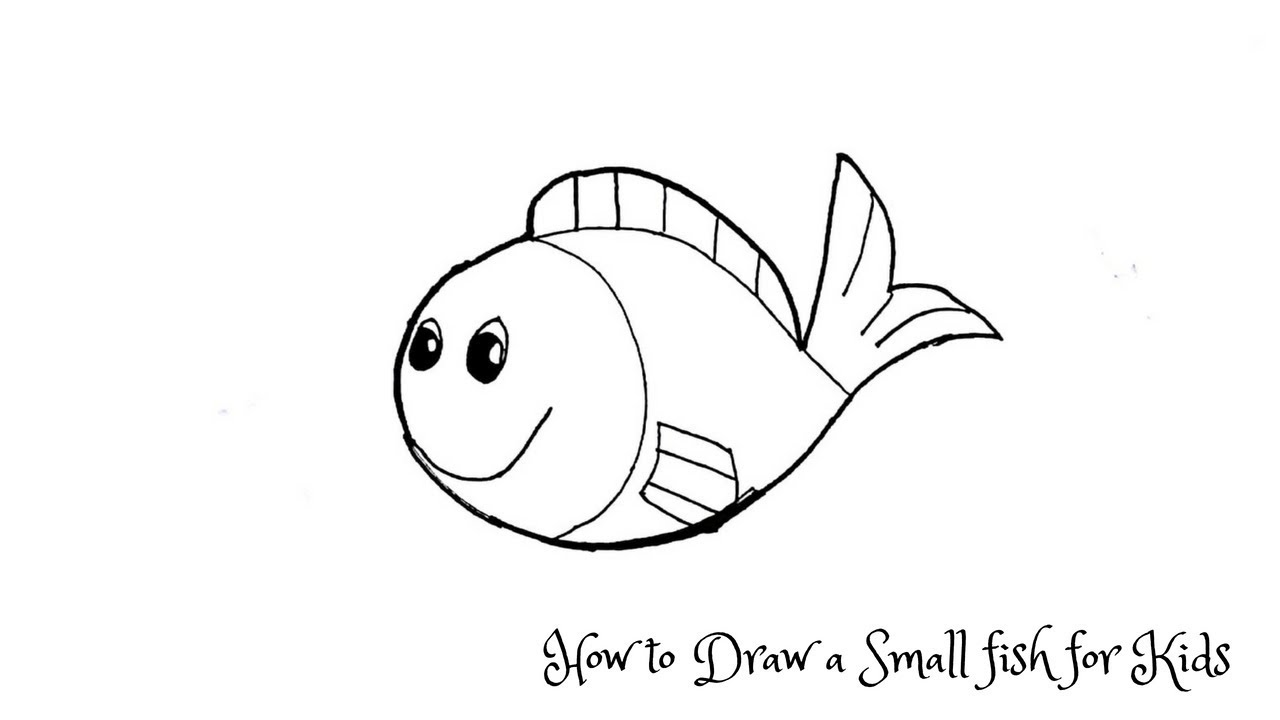 How To Draw A Small Fish For Kids