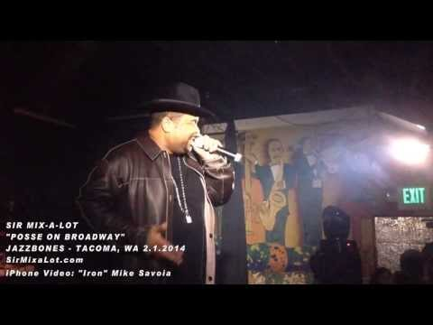 Sir Mix-a-Lot - Posse on Broadway (dedicated to Seahawks) - Jazzbones - Tacoma, WA 2.1.14
