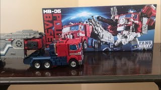 Video Fans Hobby Master Builder MB-06 POWER BASER  Optimus Prime UNBOXING download MP3, 3GP, MP4, WEBM, AVI, FLV Maret 2018