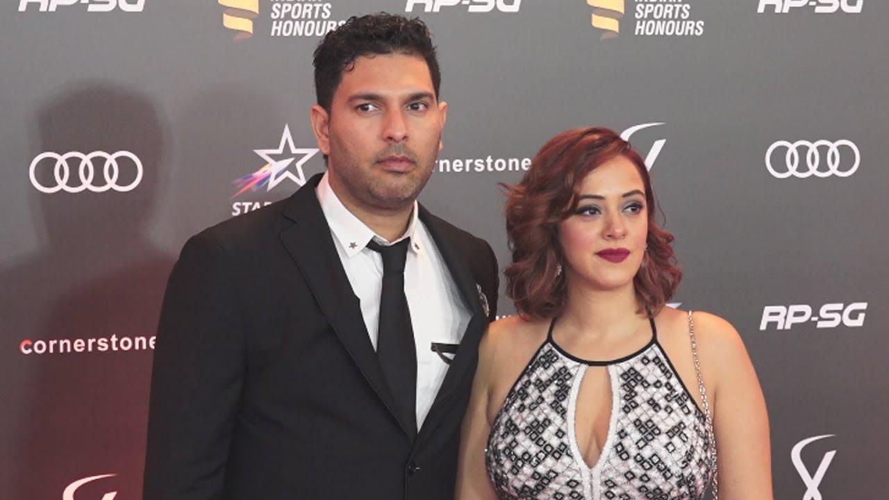 Yuvraj Singh And Wife Hazel Keech At Indian Sports Honours 2019 Awards -  YouTube
