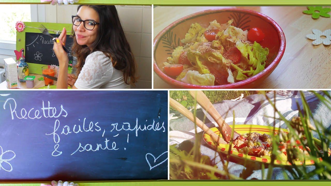 Recettes Vegetariennes Faciles Rapides Et Sante Youtube