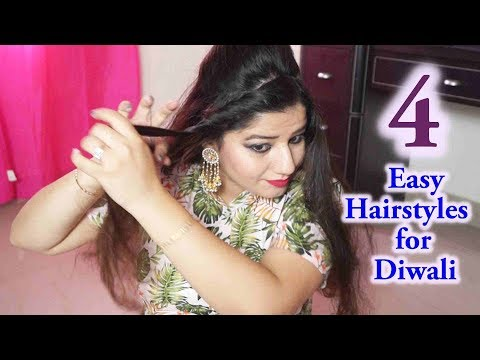 4 Easy Hairstyles for Wedding/party /Functions