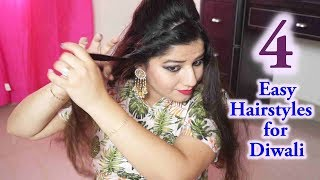 4 Easy Hairstyles for Diwali