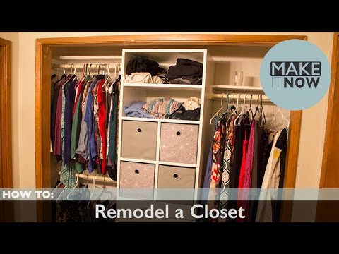 how to build a wardrobe closet on a budget