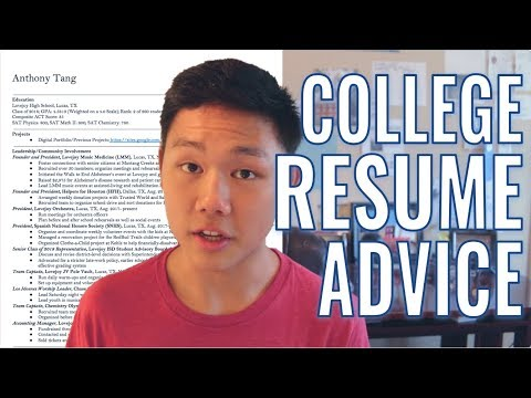 REVEALING MY RESUME || Tips To Write A Stellar College Resume