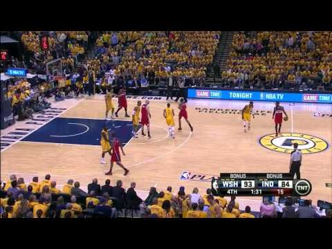 NBAPlayoffs: John Wall vs Indiana Pacers 2014.05.05 (2st Round - Game 1)