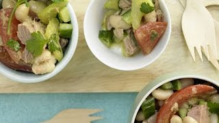 Итальянский салат с тунцом. Салат с тунцом и фасолью.