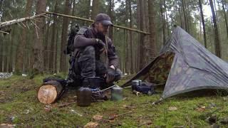Tarp Aufbau für Schlechtwetter / Survival - Tactical Bushcrafting