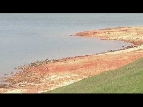 Lake Strom Thurmond water levels severely low