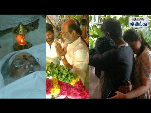 Celebrities Pay Last Respects to Balakumaran | Rajinikanth | Atlee | Rajkiran | Parthipan