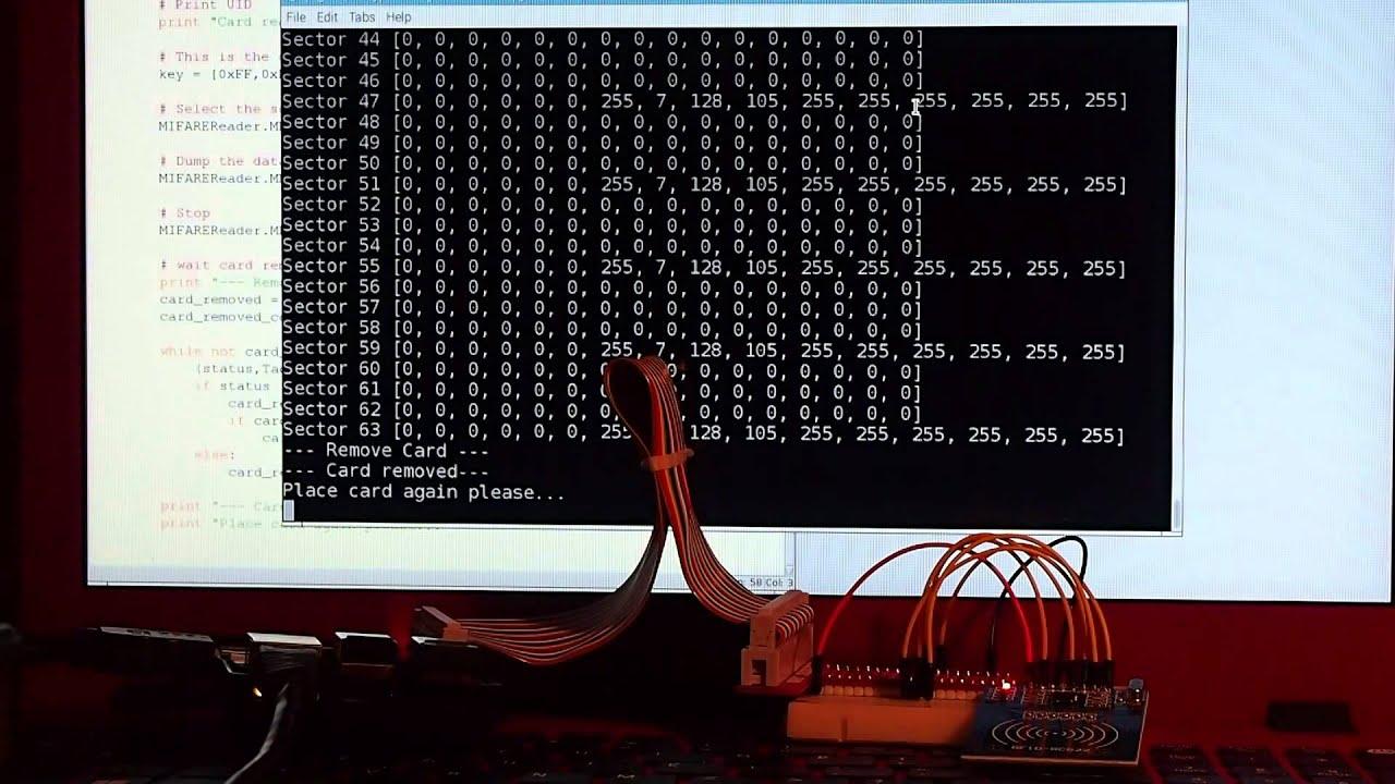 Raspberry Pi + Python + mxgxw/MFRC522-python - Dump RFID Tag data and  detect card remove