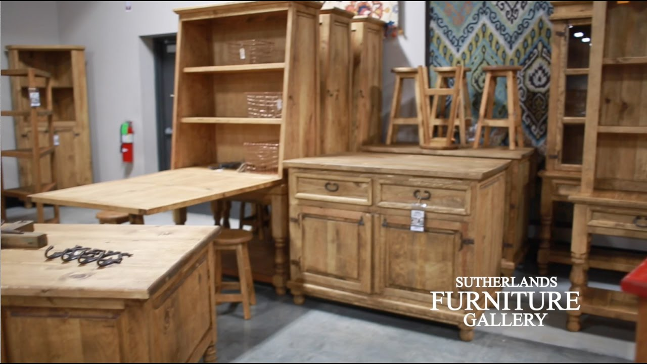 Sutherlands Furniture Gallery  Rustic Pine Furniture