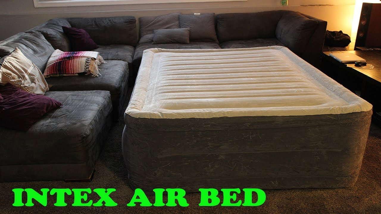 intex durabeam plus airbed with builtin electric pump review