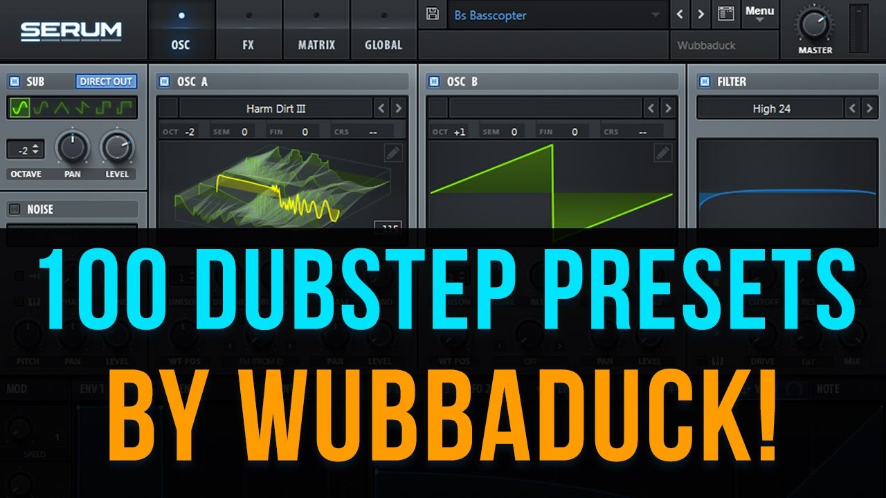 100 Dubstep Presets for Serum by Wubbaduck!