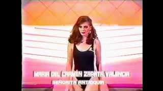 SEÑORITA ANTIOQUIA 1985 MARÍA DEL CARMEN ZAPATA VALENCIA