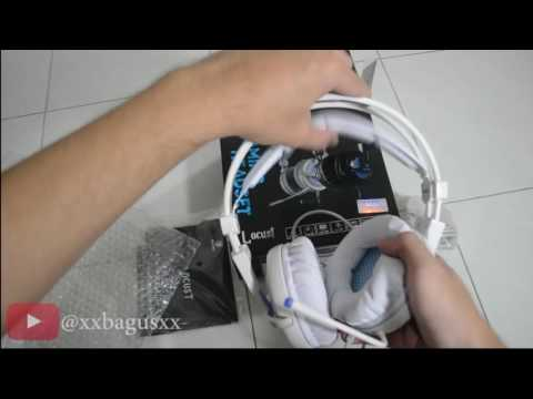 REVIEW UNBOXING SADES GAMING HEADSET LOCUST mic test (Bahasa INDONESIA)