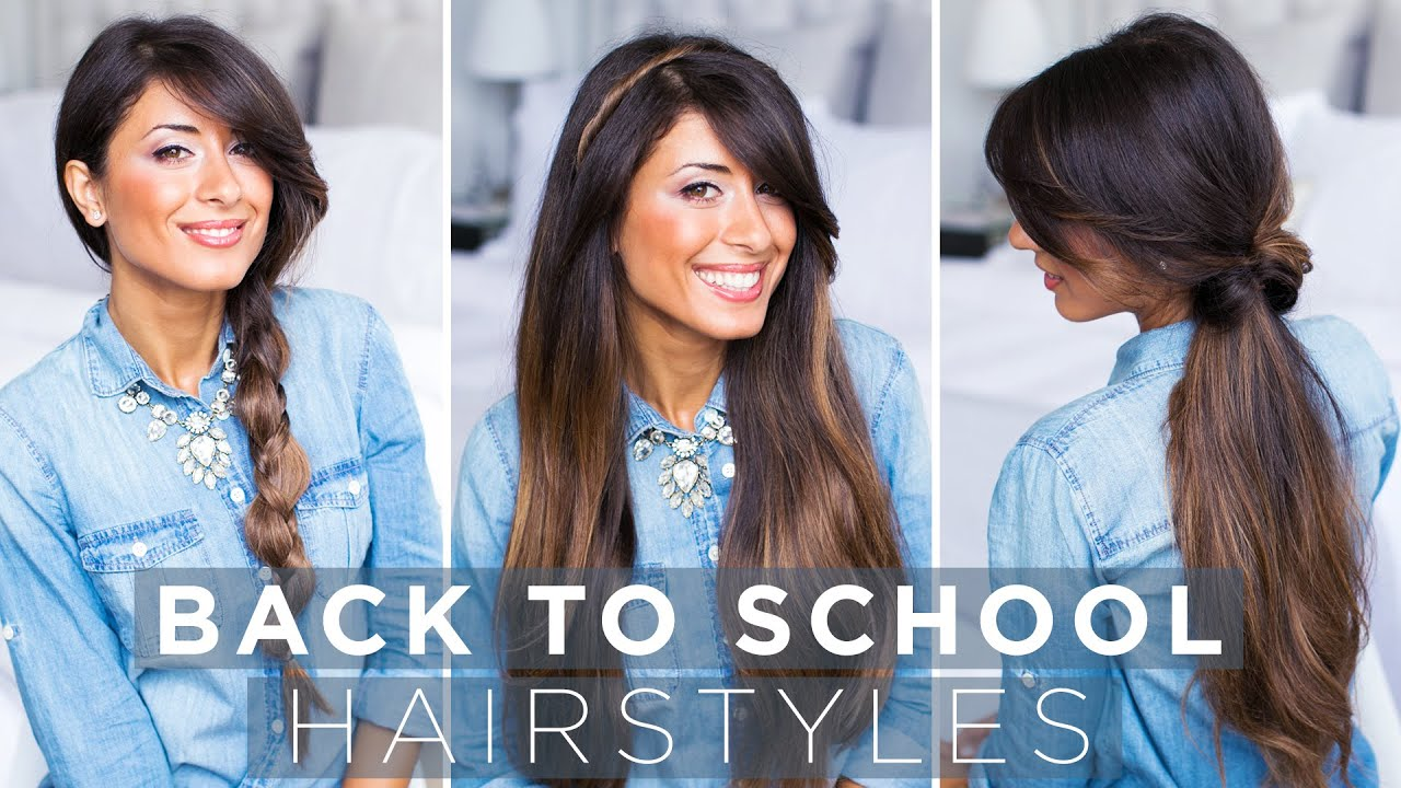 Cute Easy Back To School Hairstyles Youtube