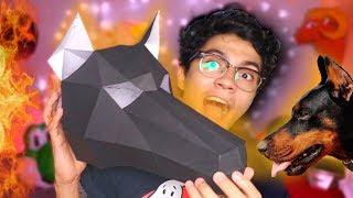 Haciendo una Máscara de Dóberman Geométrica muy rápido con papel 😱 | Momuscraft