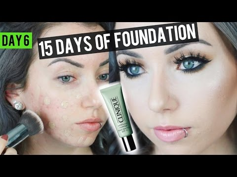 Full Coverage Clinique Continuous Coverage Foundation Review Demo 15 Days Of Foundation Youtube